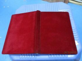 笔记本:绒布面日记本  未写过  品自定  2-5号柜