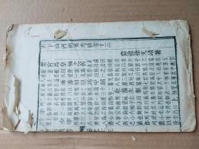 白纸木刻稀见本--------------------天下山河两戒考补大开本一册