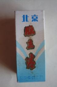 老药标  包装盒   北京 脑立清   北京中药二厂(未用)