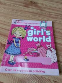 Wipe-clean activity book, a girls world   一个女孩的世界