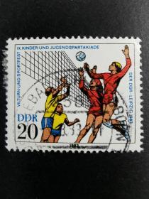 德国邮票·83年青少年运动会·排球1信