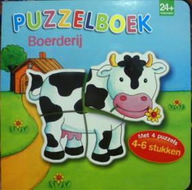 荷兰语原版  幼儿拼图绘本故事    Puzzelboek: Boerderij     农场