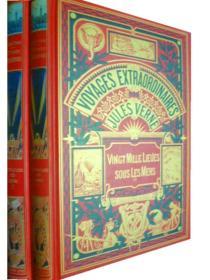 法文原版     Jules Verne: Vingt Mille Lieues Sous Les Mers      海底两万里 (I,II 两册,黑白插图,精装版)