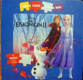 德文原版    幼儿拼图绘本故事    Disney DIE Eiskoningin  II
