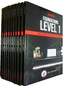 英文原版         Pianote: Foundations Level 1-10       钢琴:基础1-10册  (精装版 ,全10册)