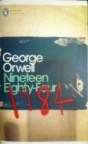英文原版         1984 Nineteen Eighty-Four  乔治奥威尔 反乌托邦政治寓言小说