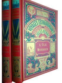 法文原版      Jules Verne: L'Ile Mysterieuse      神秘岛  (I,II 两册,黑白插图,精装版)