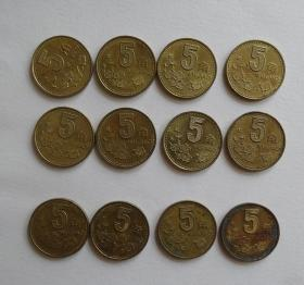 5角硬币梅花币