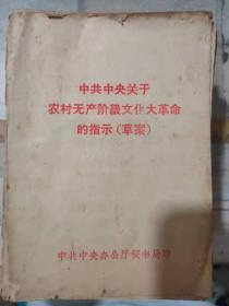《中共中央关于农村无产阶级文化大革命的指示(草案)》