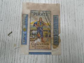"""""""PIRATE""""/Cigarettes.…/海盗牌民国烟标(只有半张)"""