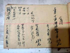《做木匠工数》公历1954年春月吉旦 劳动光荣/陈仁高记