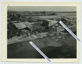 1940年代云南昆明风光民居建筑老照片,12.9X10厘米,泛银