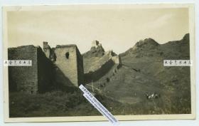 民国时期河北秦皇岛山海关辽西山脉的残长城遗迹老照片B