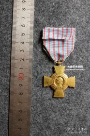 1930-1940年代二次世界大战欧洲战场法国抗击德国法西斯,法兰西铜十字勋章一枚,尺寸见实物图 B