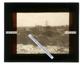 清代民国玻璃幻灯片-----民国东北满洲辽宁沈阳奉天的城墙最后的残迹
