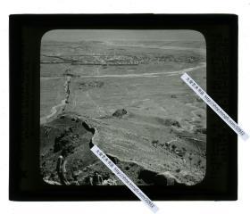 清代民国玻璃幻灯片----清末民国时期河北直隶山海关城市全景远眺,万里长城的起点一带的辽西山脉