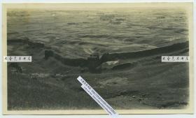 民国时期河北秦皇岛山海关辽西山脉的风化损毁严重的长城遗迹老照片