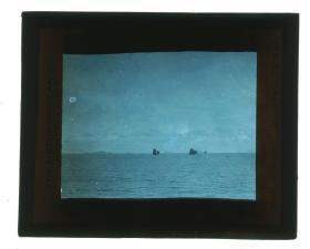 清代民国玻璃幻灯片-----民国中国海景帆船