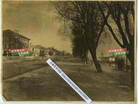 清代湖北大幅蛋白照片两张,1)汉口外滩建筑群和长江码头 2)武昌黄鹤楼大幅蛋白照片,几乎是清代黄鹤楼留下的最后影像。26.2X20.8厘米