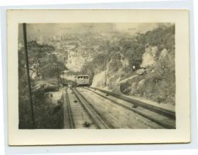 民国香港山顶缆车老照片。9.3X7厘米