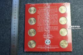 2010年费城和丹佛造币厂总统肖像套装币一套八枚,美枚的面值为一美元,可以等值流通。共计面值八美元