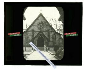 清代民国玻璃幻灯片-----民国上海的教堂,怀恩堂?未知