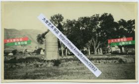 1929年山西省吕梁市文水县高僧佛塔文塔建筑老照片,14X8.3厘米,泛银。