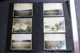 1922年亚洲海域美军军舰相关老照片一组11张, 含舰船有:Dorsey号,Alden号,Johnd.Edwards号,Wompatock号追击潜艇,Waters沃特斯号在船埠,海上浮船埠,海上射击目标排筏等内容。照片大约都是10.5X8厘米左右大小,泛银。