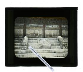清代民国玻璃幻灯片-----民国日本京都清净神社精制石雕石刻台阶