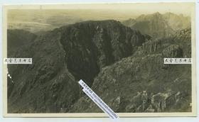 民国时期河北秦皇岛山海关辽西山脉长城附近的山体地质地貌老照片