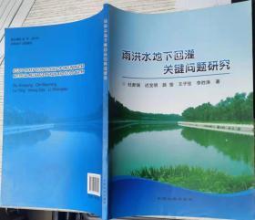 雨洪水地下回灌关键问题研究 杜新强 迟宝明 中国大地出版社9787802465213