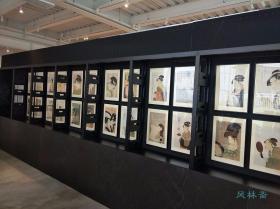 《美人画之粹-喜多川歌麿名作撰》豪华木版画24枚50万日元 现代最高水平浮世绘复刻 每日新闻社版 日本名雕工摺师