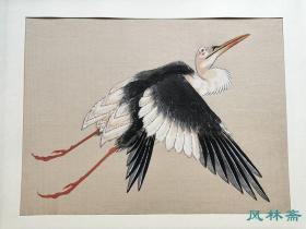 葛饰北斋《白鹤图屏风》局部 浮世绘花鸟画名作 高见泽复刻木版画 中判16开
