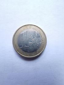 欧盟硬币:1欧元  2002年  3