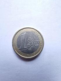 欧盟硬币:1欧元  2002年  5