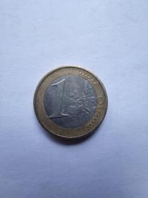 欧盟硬币:1欧元  2002年  2