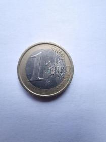 欧盟硬币:1欧元  2002年  4