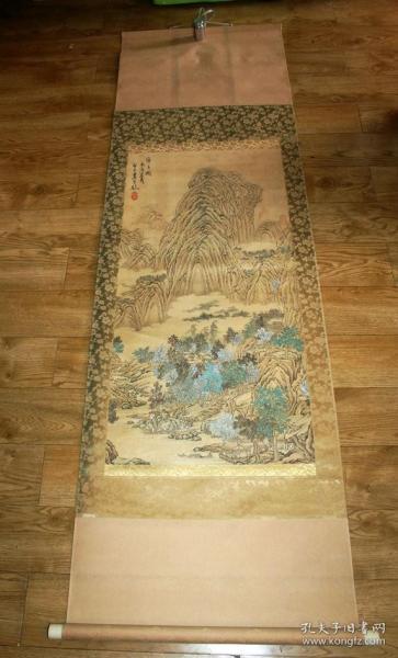 张竹多  80年代绢本山水