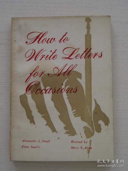 HOW TO WRITE LETTERS FOR ALL OCCASIONS