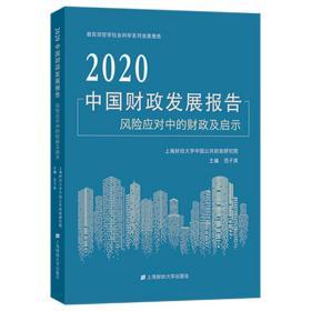 2020中国发展报告:风险应对中的及启示 财政金融 范子英