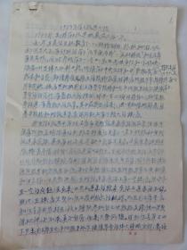 1973年学习改造小结(杨仲璜手迹  陕西富平人  民革)