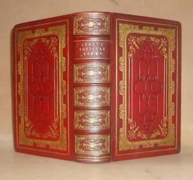 1828年The Poetical Works of Sir Walter Scott – 《华尔特•司各特诗歌集》全摩洛哥羊皮双面满堂烫金古董书  绝美原品铜版画 品绝佳