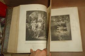 【补图2】1812年 Holy Bible《神圣经典》古铜版画插图本 全小牛皮3巨册全 120张珍贵古铜版画  品上佳