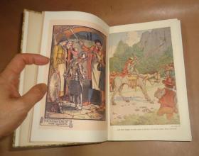 1910年 CERVANTES' DON QUIXOTE  《堂吉诃德》Heath Robinson插图初版本 布面精装品相佳 增补彩图 原书衣全