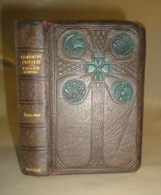 1890年  Common Prayer  -圣-经-《公祷书》  摩洛哥羊皮彩绘烫金豪华精装 精美彩图  送礼佳品