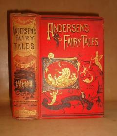 1892年Andersen's Fairy Tales《安徒生童话全集》满金彩绘古董书 雕版版画插图 增补精美彩图