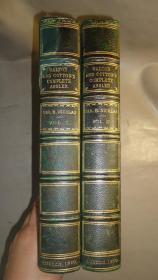 1860年Izaac Walton _The Compleat Angler  伊萨克•沃尔顿《垂钓大全》含续篇 3/4摩洛哥羊皮豪华装帧善本 2巨册全 大量铜版画插图