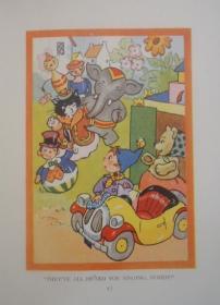 1950年 Enid Blyton - Noddy Meets Father Christmas 著名童话人物诺迪系列《小诺迪遇见了圣诞老人》极珍贵初版本 珂罗版套色插图