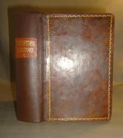 1851年 Scripture Plates for  NEW  Testament 神圣经典 之《新约全书铜版画辑》全树纹小牛皮豪华精装 珍贵古董书