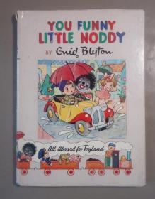 1950年 Enid Blyton -  You Funny Little Noddy 著名童话人物诺迪系列《你这个有趣的小诺迪》极珍贵初版本 珂罗版套色插图